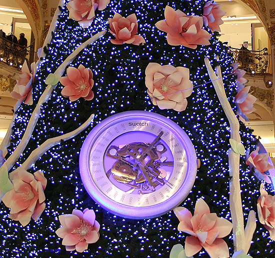 Sapin Swatch 2013 galerie Lafayette